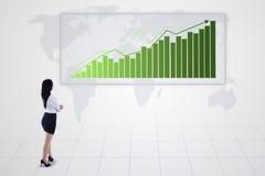 随着趋向和女实业家的增加长条图-  皇族释放例证