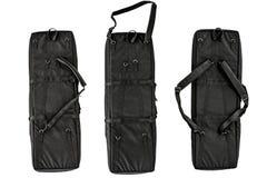 隐瞒的袋子运载冲锋枪 查出 免版税图库摄影