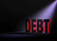 隐约地出现的债务 库存图片
