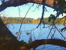 隐藏的湖 库存图片