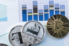 隐藏货币市场、趋向、展望专家和贸易商的发展的例证 Litecoin 免版税库存图片