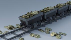 隐藏货币采矿 库存照片
