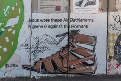隔离墙/和平墙壁在Bethleham,以色列 免版税库存图片