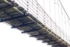 隔绝木吊桥 免版税图库摄影