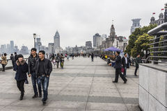 障壁上海 库存照片
