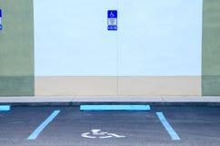 障碍停放的残疾许可证斑点 库存图片