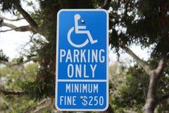 障碍停车处标志 免版税库存图片