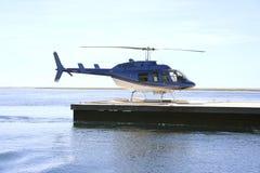 障碍巨大直升机礁石浏览 免版税库存图片