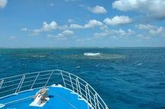 障碍极大的早晨礁石 库存照片