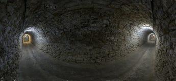 隧道全景 免版税库存图片