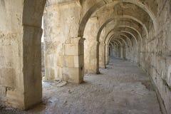 隧道圆形剧场在土耳其 Aspendos 库存图片
