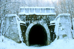 隧道火车 库存图片