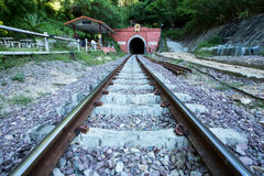 隧道的开始在Lampang 库存照片