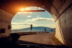 隧道的末端 库存照片