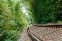 隧道路轨-速度 库存照片