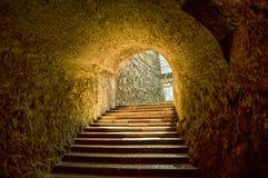 隧道通过堡垒 免版税库存图片