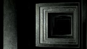 隧道通过混凝土板 在超HD 4k的使成环的动画 库存例证