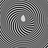 隧道 抽象3d几何背景 黑白设计 与错觉的模式 皇族释放例证
