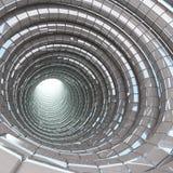 隧道洞现代玻璃 免版税库存照片