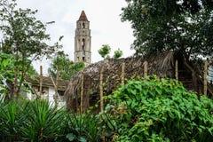 奴隶塔Manaca Iznaga, Trinidan,古巴 库存图片