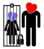奴隶婚姻 免版税库存照片