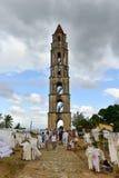 奴隶手表塔- Manaca Iznaga,古巴 库存图片
