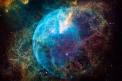 难以置信地某处美丽的星系在外层空间 科幻墙纸 美国航空航天局装备的这个图象的元素 免版税库存照片
