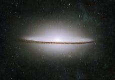 难以置信地某处美丽的星系在外层空间 免版税库存照片