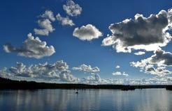 难以置信的多云天空 免版税库存照片