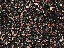 难倒纹理,无缝的样式背景的磨石子地 印刷品的抽象传染媒介设计在地板、墙壁、瓦片或者纺织品上 皇族释放例证