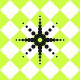 难倒陶瓷砖样式绿色与黑星 免版税库存图片