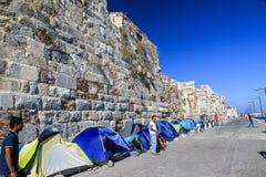 难民帐篷 库存图片