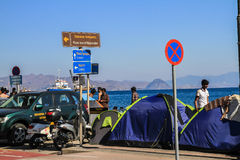难民帐篷 免版税库存图片