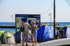 难民帐篷 库存照片
