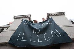 难民权利集会 免版税库存图片