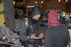 难民欢迎帮助中心 免版税库存照片