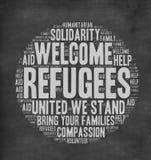 难民欢迎 免版税图库摄影