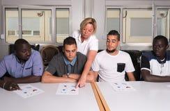 难民的语言训练德国阵营的 库存图片