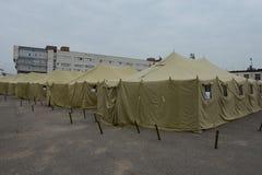 难民的临时阵营 免版税库存照片