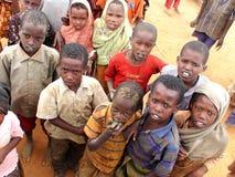 难民营的非洲孩子 免版税库存图片