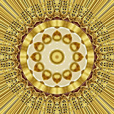难看的东西东方金装饰品纹理 免版税图库摄影