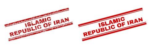 难看的东西伊朗邮票封印被构造的伊朗伊斯兰共和国  库存例证