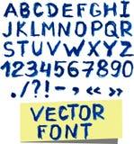 难看的东西传染媒介水彩字体 免版税库存图片