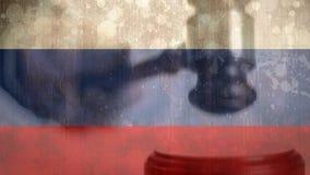 难看的东西俄国旗子和惊堂木数字综合  影视素材