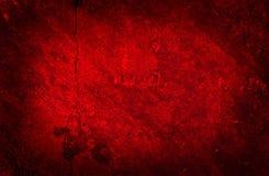 难看的东西具体红色墙壁纹理 免版税库存照片