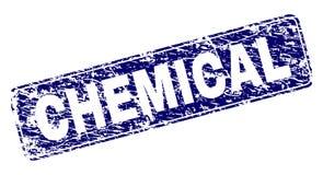难看的东西化学制品构筑了被环绕的长方形邮票 向量例证
