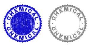 难看的东西化学制品构造了邮票 皇族释放例证