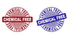 难看的东西化学制品自由织地不很细圆的邮票 库存例证