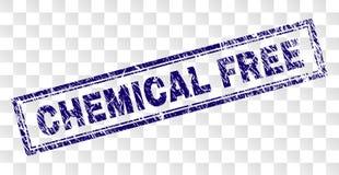 难看的东西化学制品自由长方形邮票 皇族释放例证