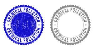 难看的东西化工污染织地不很细邮票封印 库存例证
